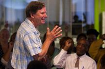 "Pierce Family Foundation president, Denis Pierce, at Cara's ""Motivations."""