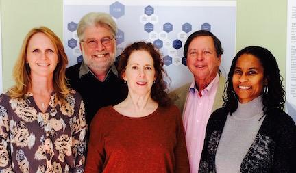 Foundation staff, from left: Laura Jansen, David Krumlauf, Marianne Philbin, Denis Pierce, and Heather Parish.
